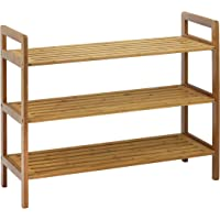 Oceanstar 3SR1651 3-Tier Bamboo Shoe Rack, Natural
