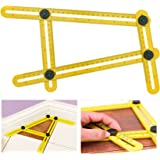 Multi-Angle Ruler Tool   Angleizer Angle Finder Template Tool   Adjustable Tile & Flooring Measurement Ruler   Universal Contractor, Builder, Woodworking, DIY Instrument