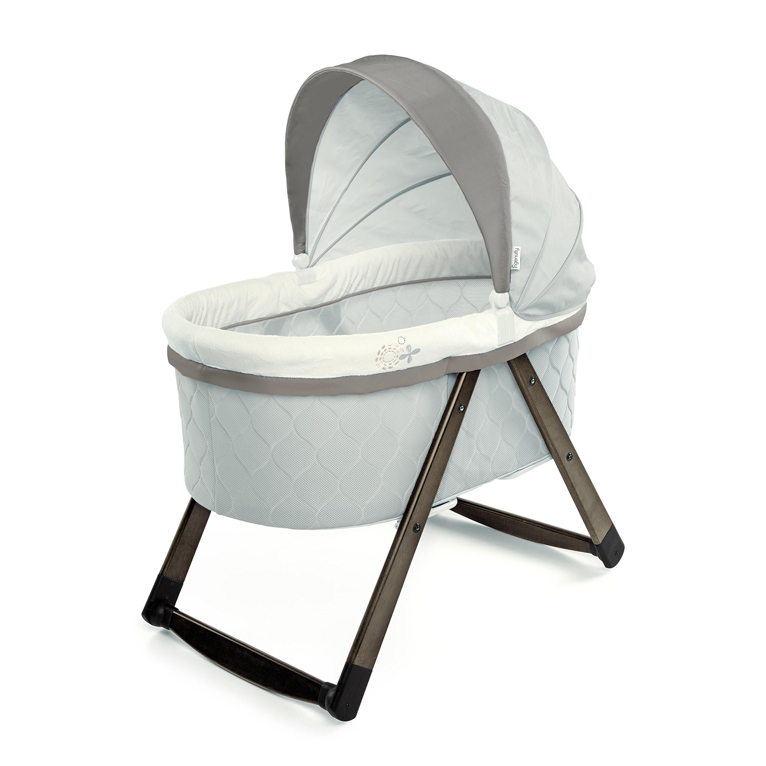 Ingenuity Foldaway Rocking Wood Bassinet - Carrington by Ingenuity