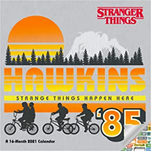 Stranger Things Calendar 2021 Bundle - Deluxe 2021 Stranger Things Mini Calendar with Over 100 Calendar Stickers (Stranger Things Gifts)