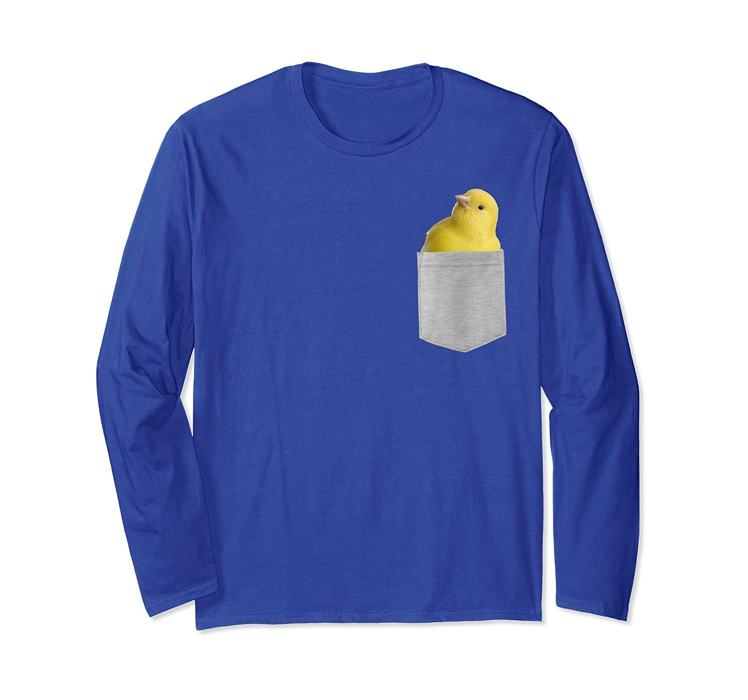 Animal in Your Pocket Yellow canary Longsleeve T-shirt-alottee gift