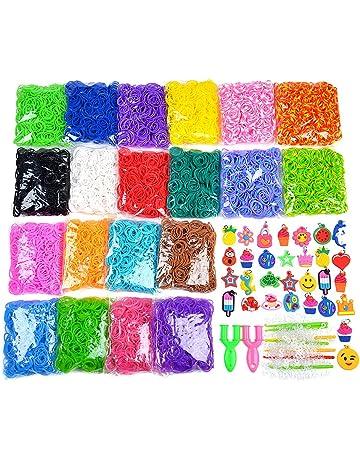 Telar Banda pulsera con dijes de Goma Coloridas Arco Iris Colgante de artesanía Hazlo tú mismo