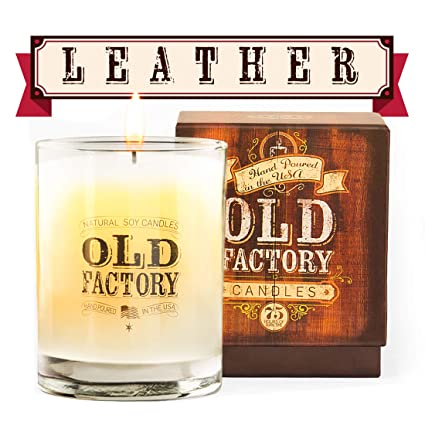Amazoncom Old Factory Scented Candles Leather Decorative