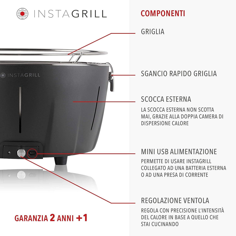 Antracita sin Humo Clase Italia 80003593/Barbacoa de Mesa a carb/ón