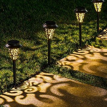 Path Lights Large Outdoor Warm White LED 30 Lumens Bright Solar Garden Patio