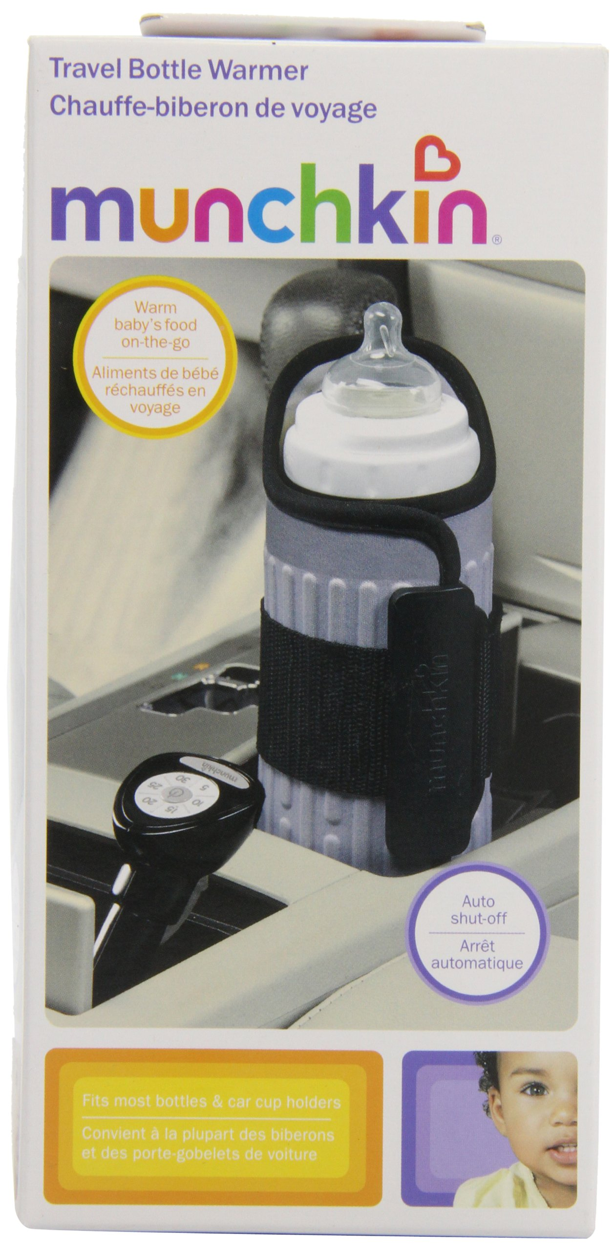 Munchkin Travel Car Baby Bottle Warmer, Grey by Munchkin (Image #2)