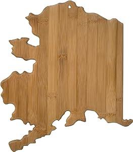 Totally Bamboo Alaska State Shaped Bamboo Serving & Cutting Board