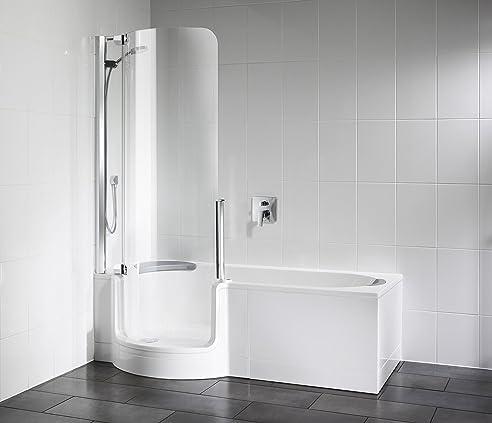 Artweger Twinline 1 Dusch Badewanne 160 cm mit Glasfront Tür ... | {Duschbadewanne mit tür 1}
