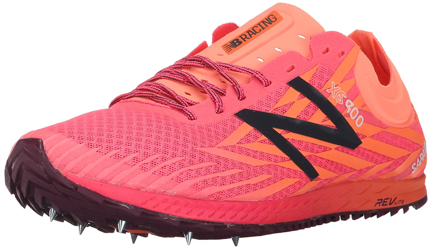 New Balance Women's 900V Removable Spike Track-Shoes, Alpha Pink/Vivid Tangerine, 8.5 B US NB2-WXCS9004-WMNS