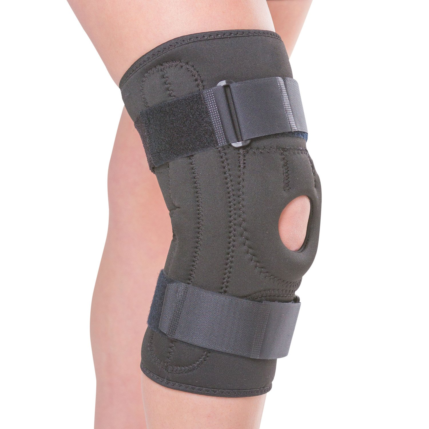 BraceAbility Patellofemoral Pain Knee Brace | Chondromalacia Treatment, Patellar Tendonitis Support to Stabilize Under Kneecap, Helps Pain from Patella Alta / Baja, Knock Knees & Bow Legs (3XL)
