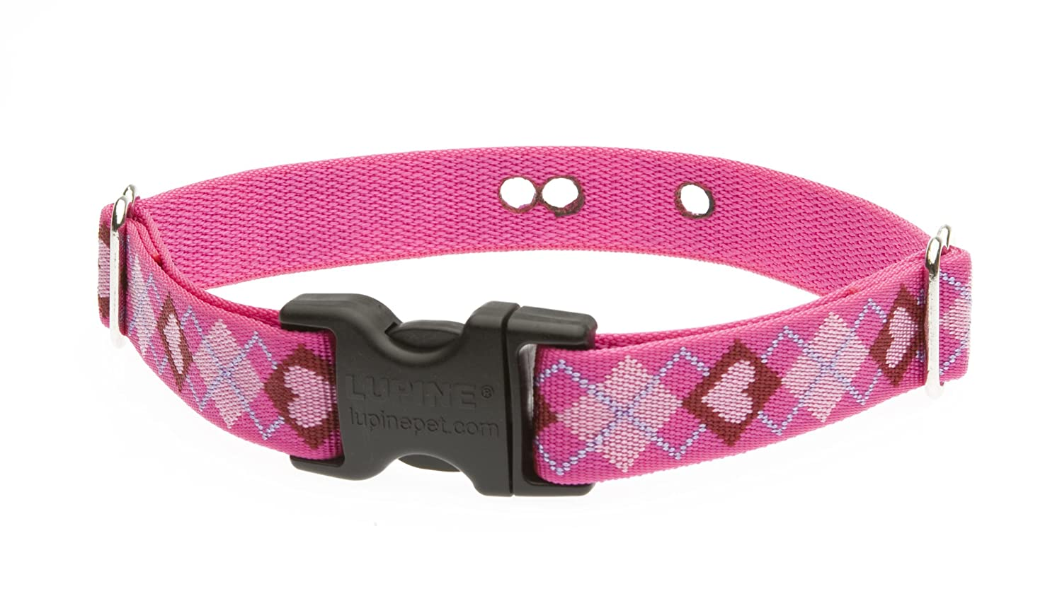 LupinePet 1 Inch Puppy Love Containment Collar Strap for Medium and Large Dogs