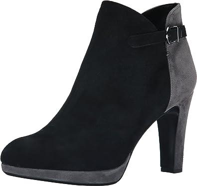 Vaneli Women's Ionna Black Suede/Grey Suede Boot 8.5 N ...
