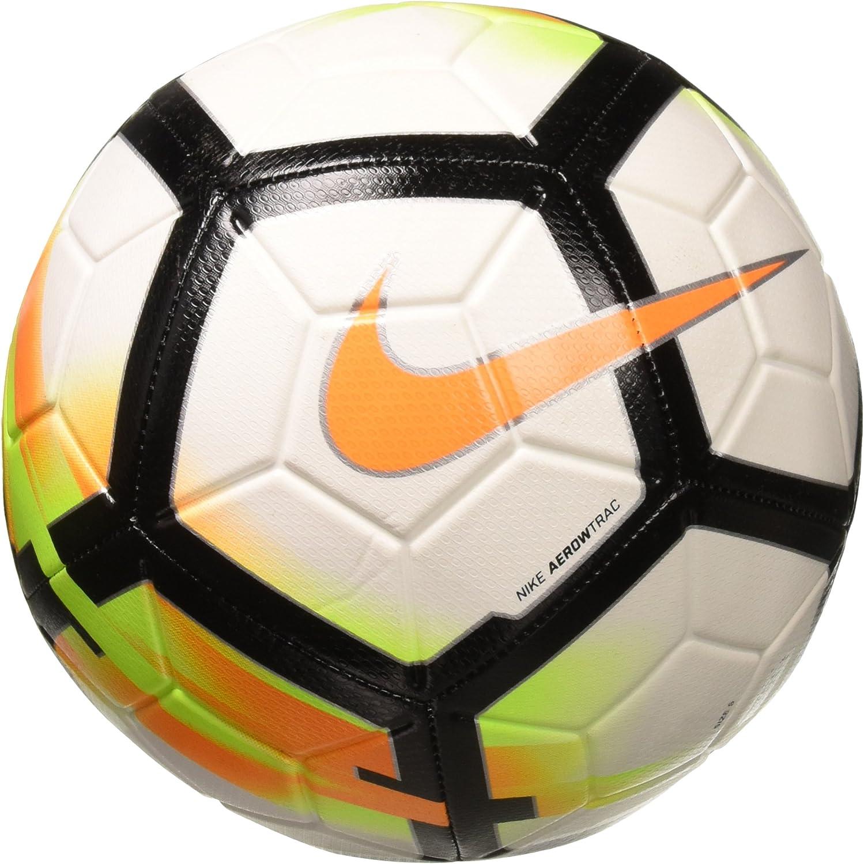Península Matemático Incomodidad  Amazon.com : Nike NK Strk Football Unisex Adult, Unisex-Adult, SC3147-100,  White (White / Laser Orange / Black / Laser Orange), 3 : Sports & Outdoors