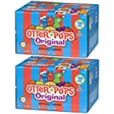 Otter Pops Assorted Flavors Ice Pops - Gluten & Fat Free Ice Pops, Flavorful Frozen Treats Contain Strawberry, Blue Raspberry, Grape, Lemon-Lime, Punch & Orange Flavors, 100 Count Per Pack - Pack of 2