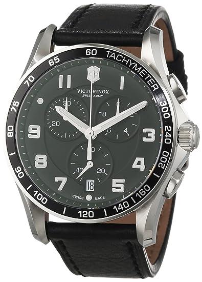 Victorinox 241651 - Reloj, correa de cuero color negro: Amazon.es: Relojes