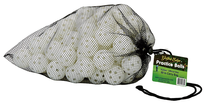 Unique Practice Golf Balls with Holes in Carry Bag (80 Balls) [並行輸入品] B072JRRFZT