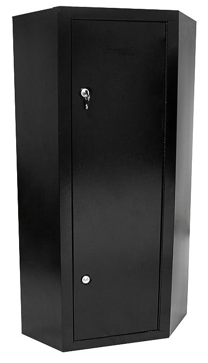 Homak 10 Gun Security Corner Cabinet, Black, HS30136010