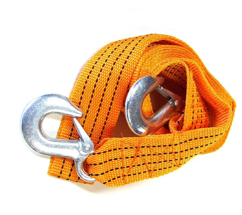 2 Sicherheitshaken Abeschlepp Seil Bergegurt Abschleppseil 5000 kg 5t 3,5m