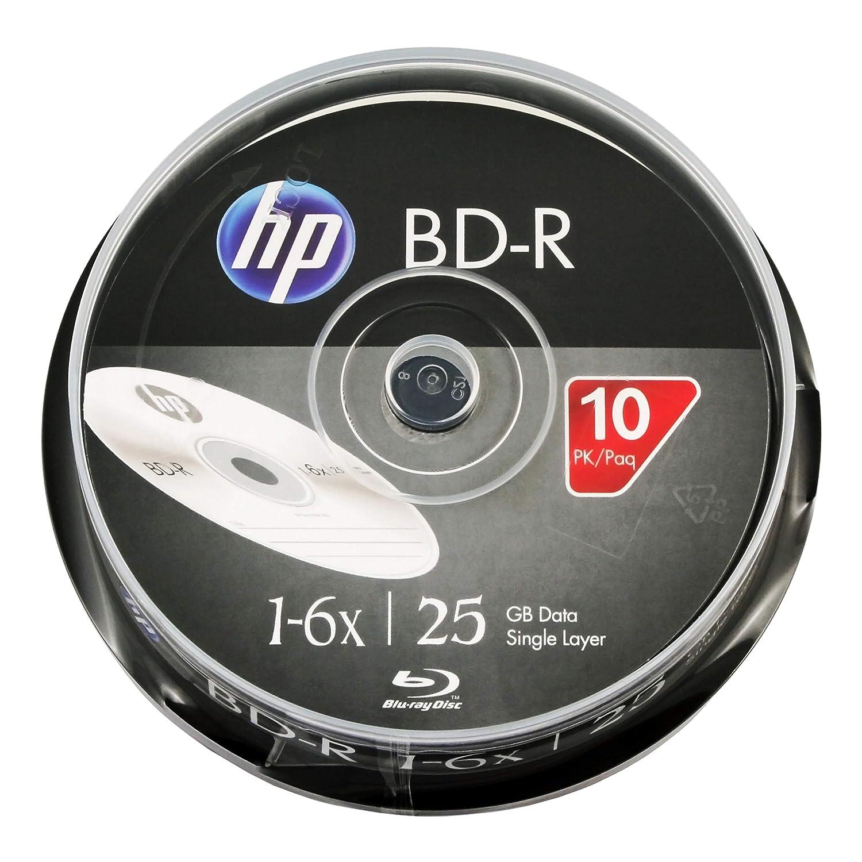 HP BD-R 1-6X Logo Top 25GB 10pk Cake Box LYSB06Y1N64DF-CMPTRACCS