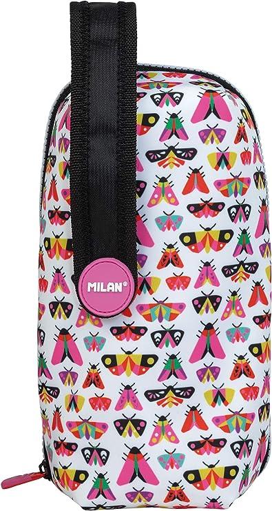MILAN Kit 4 Estuches con Contenido Zum Zum Blanco y Rosa: Amazon.es: Oficina y papelería
