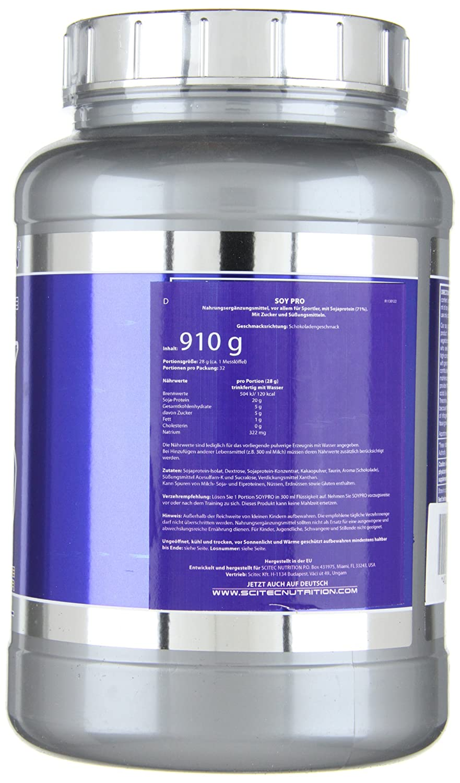 Scitec Nutrition Soy Pro proteína Chocolate 910 g: Amazon.es: Salud y cuidado personal