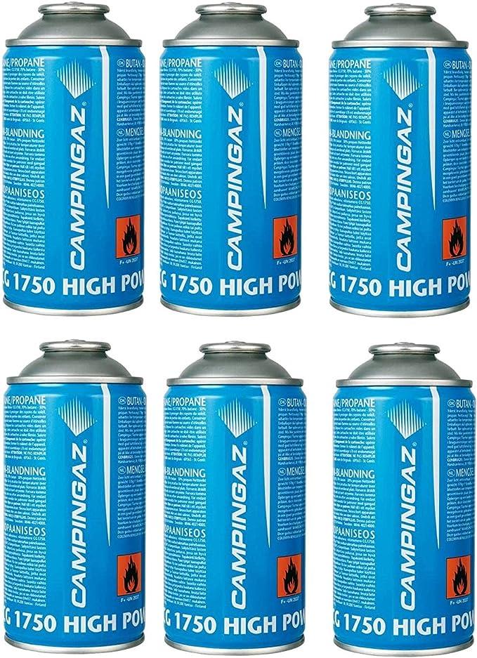Bombona cartucho cartuchos de gas 175 g – CG1750 Campingaz CG 1750 – Casquillo de tornillo ideal para soldadores – Oferta para 6 bombonas