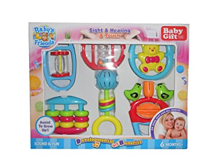 Babys Friends Baby Gift Rattle Play Set