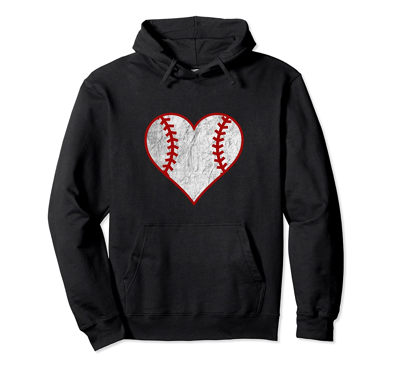 Baseball Love Heart Shaped Hoodie Sweatshirt-TH
