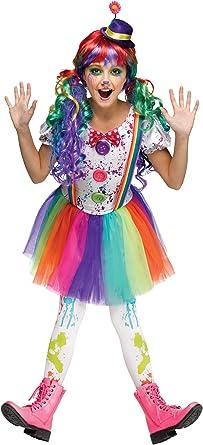 Amazon.com: Disfraz de payaso para niñas, colores ...