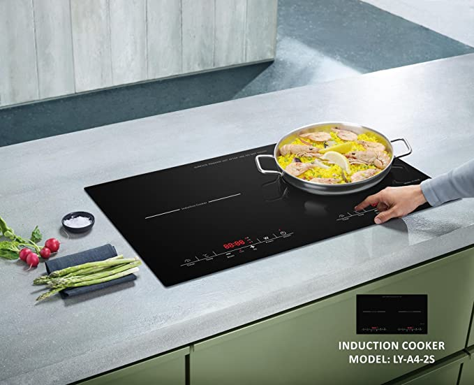 Amazon.com: Oliver and Smith - Professional Home Series - Portable Digital Dual Electric Induction Cooktop - Countertop Insertable: Kitchen & Dining