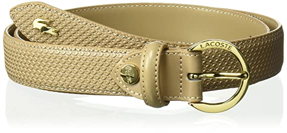 494eb3d5809b4 Lacoste Women s Premium Chantaco Coated Leather Belt at Amazon Women s  Clothing store