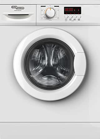 Super General 6 kg Front Loading Washing Machine 6100NLED, 1000 RPM Washer, Energy-Saving, White, 23 Programs, 1 Year Warranty