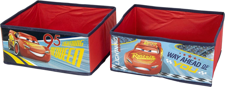 Global Industry Disney Pixar Cars 3 42199-S Car Storage Unit Black and Red 62 x 30 x 60 cm