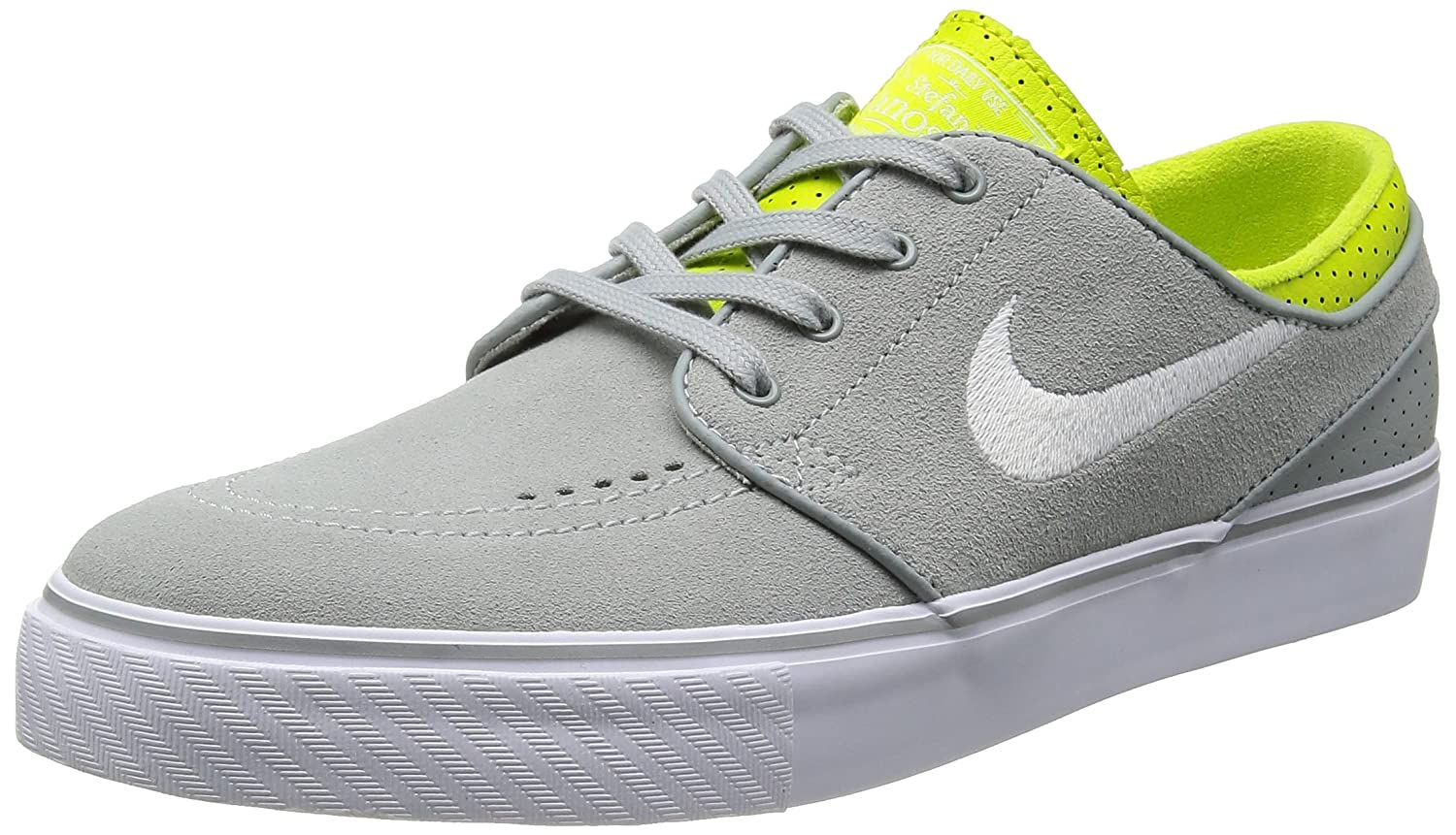 size 40 5d873 87adc Nike SB Zoom Stefan Janoski Mens Skate Trainers 333824 025 Sneakers Shoes  (UK 8. 5 US 9. 5 EU 43, Base Grey White Venom Green)  Buy Online at Low  Prices in ...