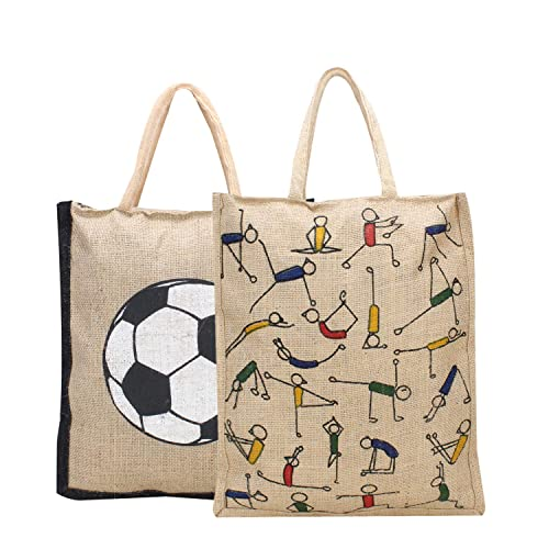 Amazon Com Eco Friendly And Reusable Jute Bags Heavy Duty