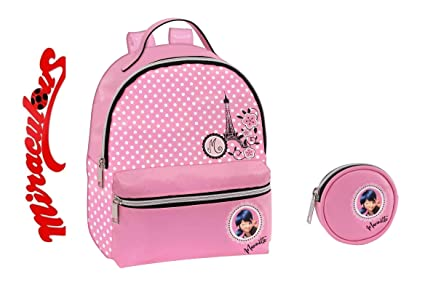 Mini mochila Ladybug Miraculous de piel sintética rosa + ...