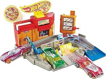Hot Wheels Circuitos de Ciudad – Pizzería Lanza-Pizzas (Mattel ...