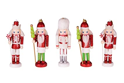 Nutcracker Christmas Ornament Figure Set by Clever Creations | Set of 5 | 2  Peppermint, - Amazon.com: Nutcracker Christmas Ornament Figure Set By Clever