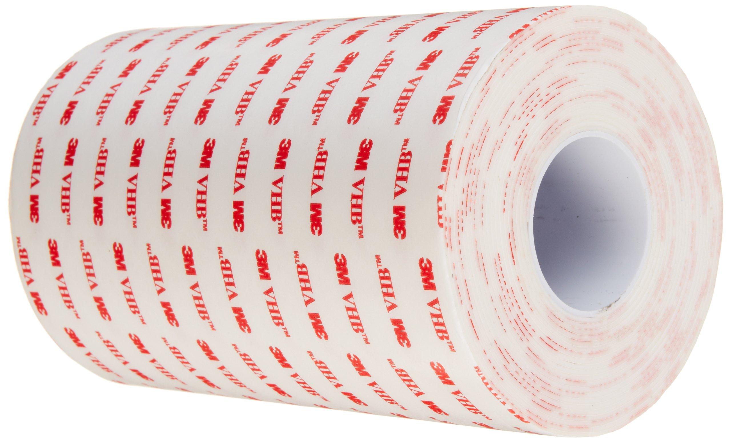 3M VHB Tape 4950, 6 in width x 5 yd length (1 Roll)