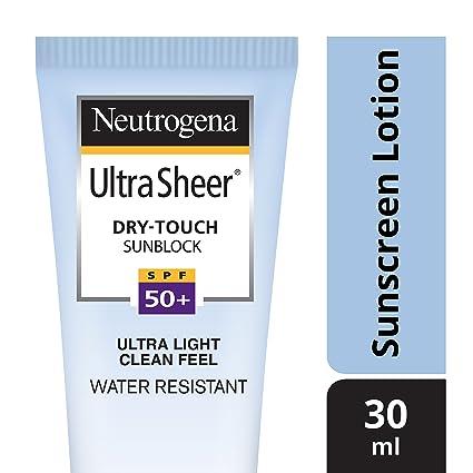 Neutrogena Ultra Sheer Dry Touch Sunblock (SPF 50+ Sunscreen)� 30ml