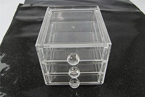 Organizador de joyas de acrílico, caja de hielo de lujo, cajones de maquillaje