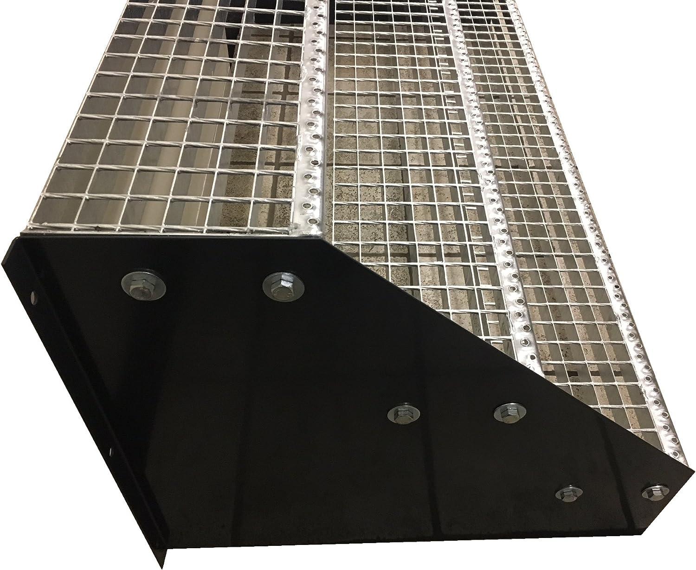 Stabile Industrietreppe f/ür den Au/ßenbereich Robuste Au/ßentreppe 3 Stufen Standtreppe Stahltreppe freistehend Breite 70cm H/öhe 63cm Schwarz