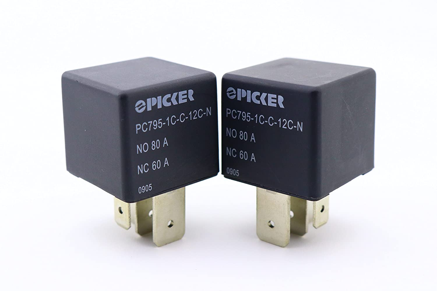 x2 PICKER PC795-1C-C2-12S-RN-X-25 Pin SPDT 12VDC Coil 80//60 Amp Maxi ISO