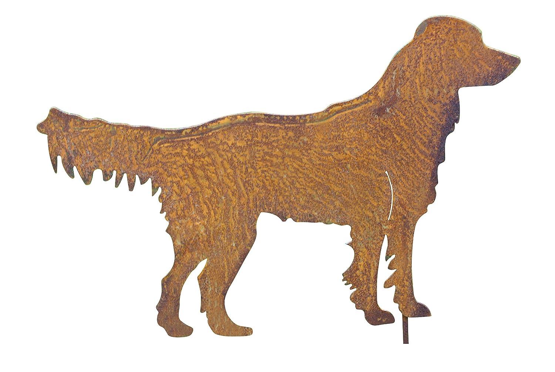 Gartenstecker Labrador Metall Gartendeko Rost Gartendeko Gold Retriever Bluemelhuber