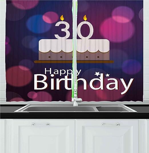 30th cumpleaños Decoración cortinas por Ambesonne, 30 años ...