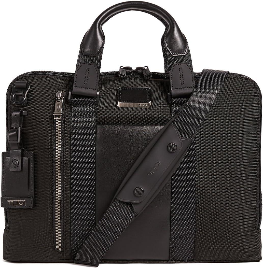 TUMI - Alpha Bravo Aviano Laptop Slim Brief Briefcase - 15 Inch Computer Bag for Men and Women - Black