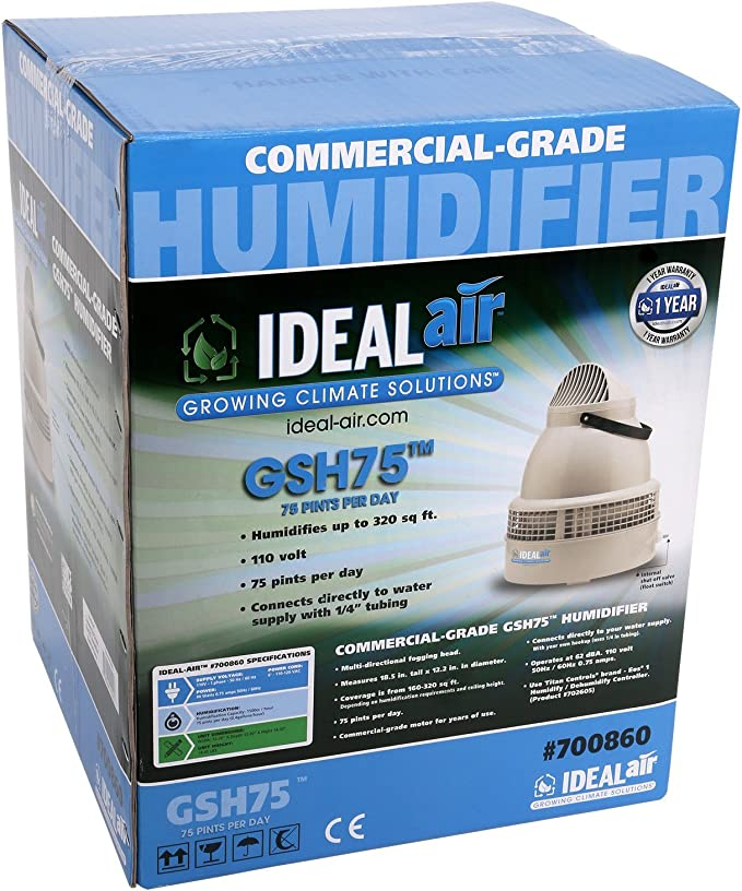 Ideal Air 700860 Commercial Grade Humidifier GSH75, 75 Pints Per Day, Grey