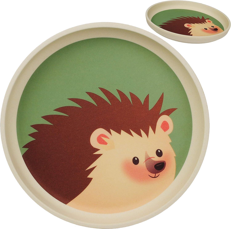 Bambusgeschirr BPA frei Teller Waldtiere /& Zootiere Name Kindergeschirr alles-meine.de GmbH Bambus inkl Bambusteller Geschirr Bamboo f/ür K.. Kinderteller Tiere