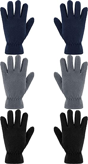 CHILDS THINSULATE WARM THICK FLEECE GLOVES KIDS BOYS GIRLS age 12-14 yrs NEW