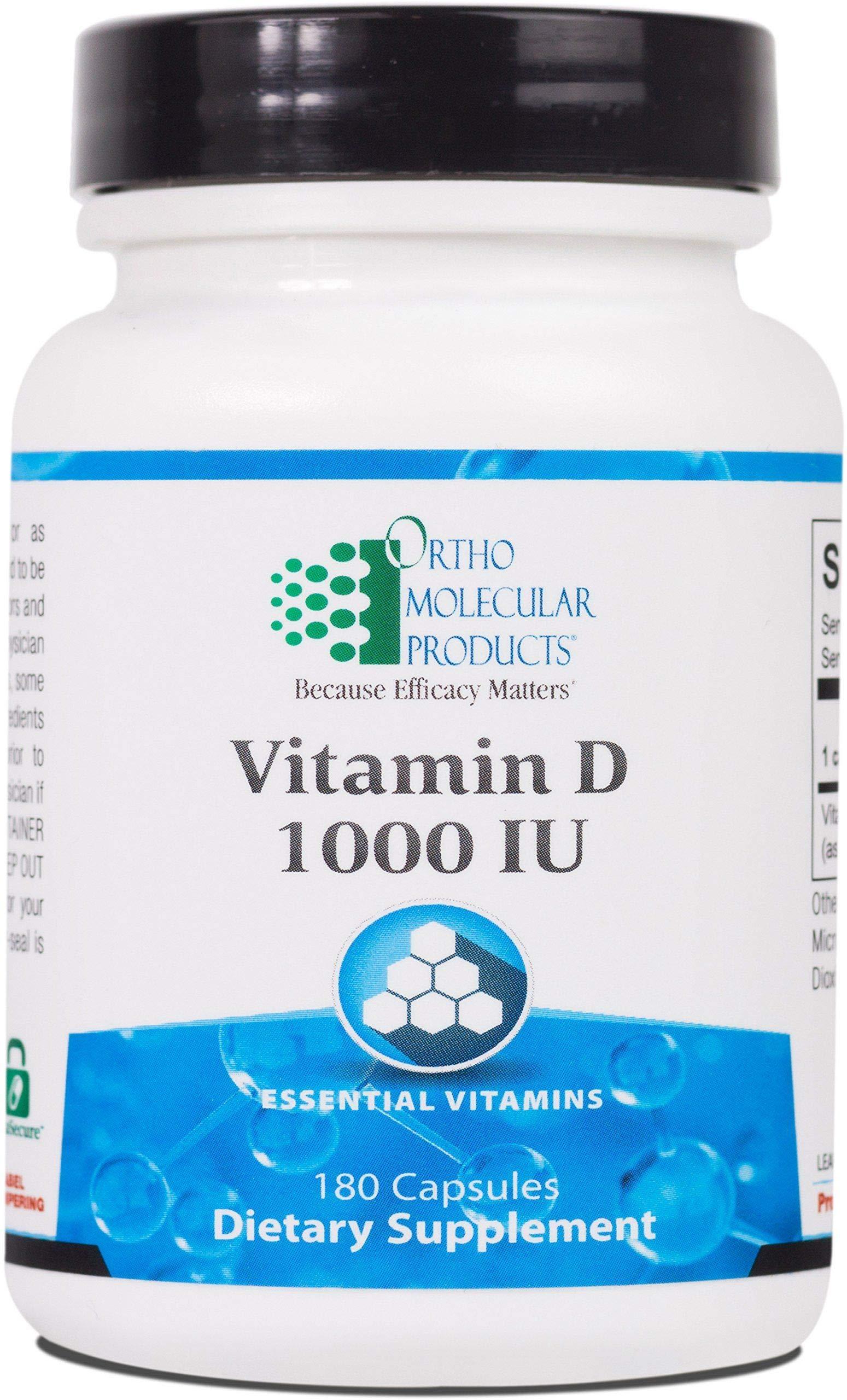 Ortho Molecular - Vitamin D 1,000 IU - 180 Capsules by Ortho Molecular